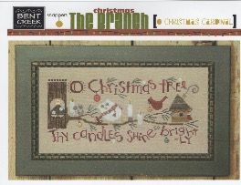 """Christmas Cardinal"" counted cross-stitch chart"